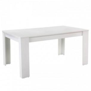 Masă dining, albă, 160,...