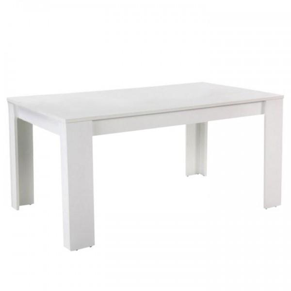 Masă dining, albă, 160, TOMY NEW