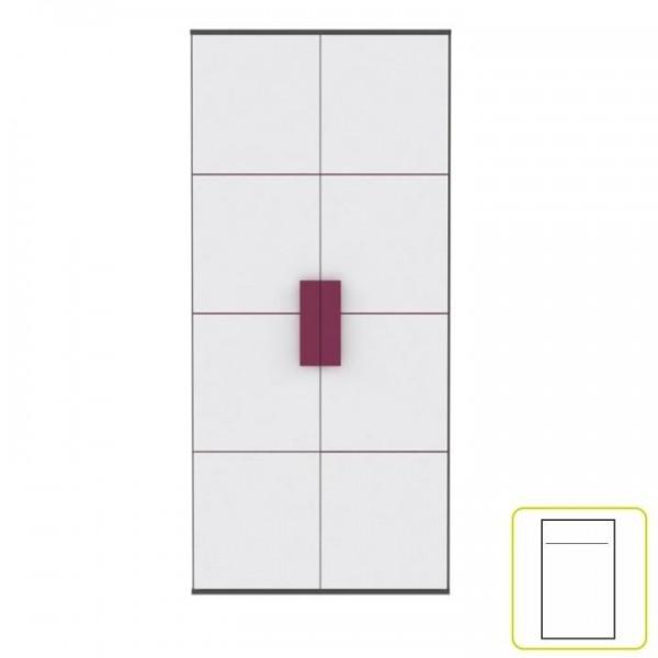 Dulap sifonier, gri/alb/mov, LOBETE S82