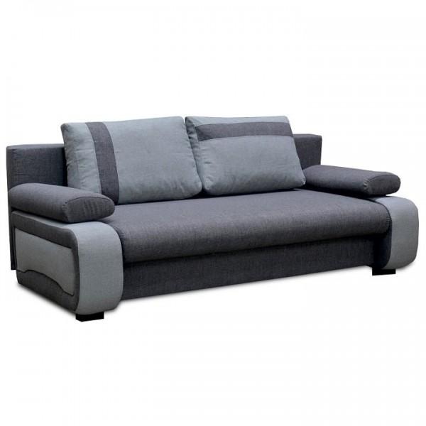 Canapea extensibila, gri inchis/gri...
