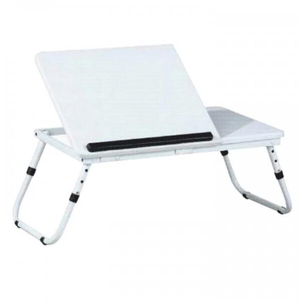 Măsuţa pentru notebook, alb, EVALD