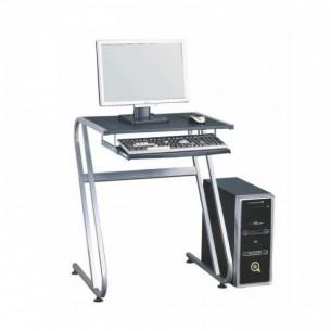 Masă PC, neagră+argintie,...