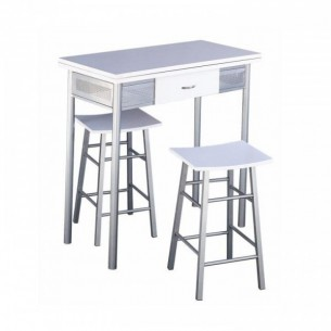 Set bar, masă + 2 scaune,...