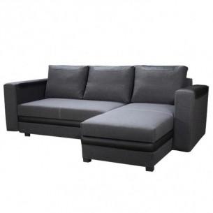 Canapea, gri inchis/negru,...