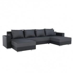 Canapea, negru/gri, ESTEVAN