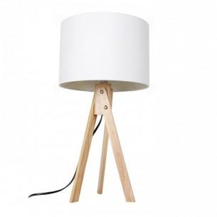 Lampa de masa, alb/lemn...