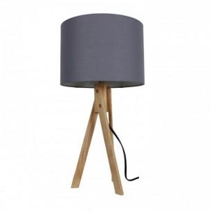Lampa de masa, gri/lemn...