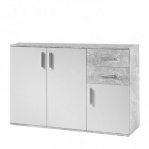 Comoda, alb/beton, POPPY 2