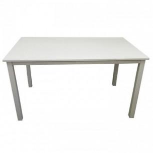 Masa dining, alb, 110 cm,...