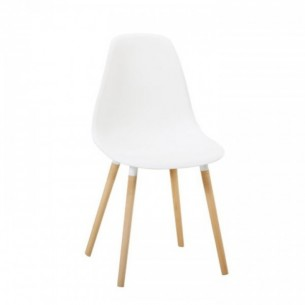Scaun, plastic alb/fag, KALISA