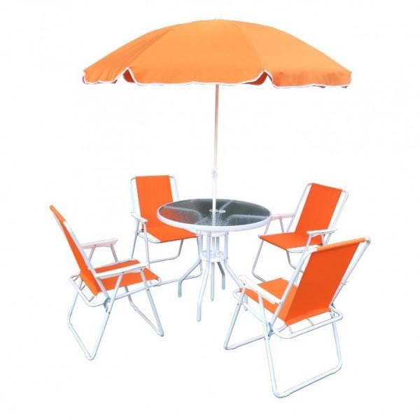 Set de gradina, portocaliu/alb, ODELO