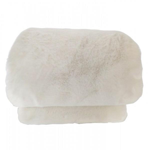 Patura de blana, alb, 150x180, RABITA...