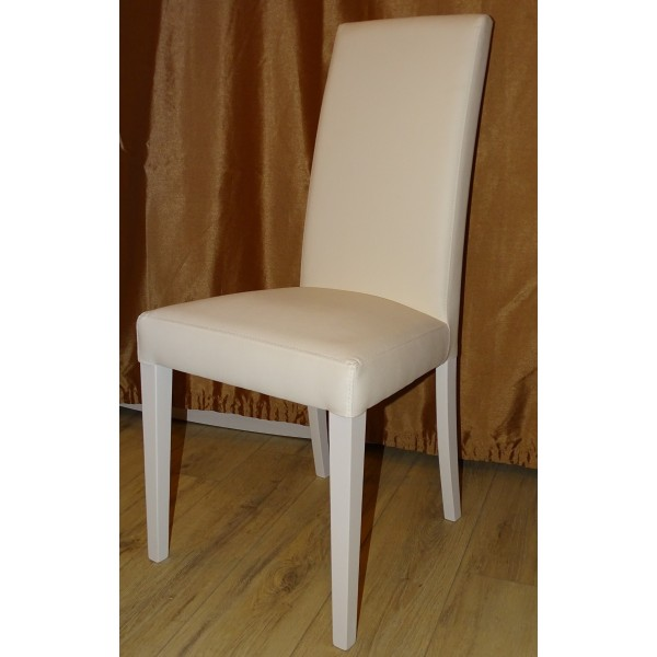 Scaun tapitat alb CORA in stil...