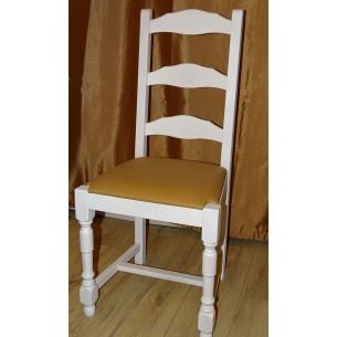 Scaun stejar  alb strunjit in stil Modern,din Stejar finisaj alb,culoare Alb