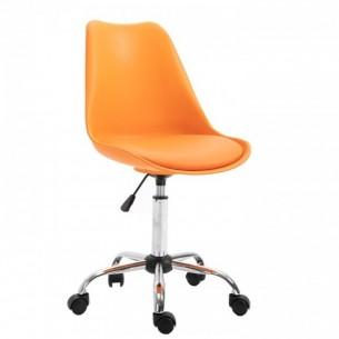 Scaun de birou, portocaliu,...