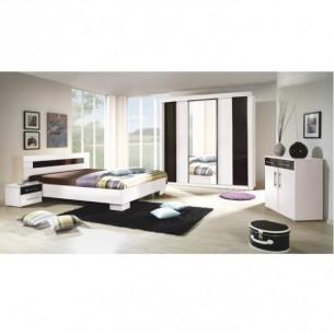Set dormitor, alb / negru,...