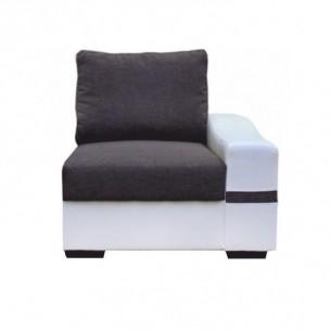 Canapea cu 1-loc, alb/gri,...