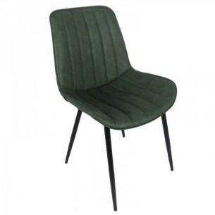 Scaun, verde/negru, HAZAL