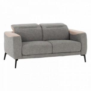 Canapea 2 locuri, gri/bej,...
