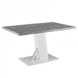 Masa dining, beton/alb...