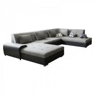Canapea, gri/negru, model...