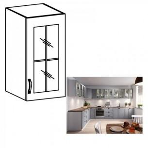 Cabinet superior, alb/gri...
