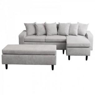 Canapea cu taburet, gri...