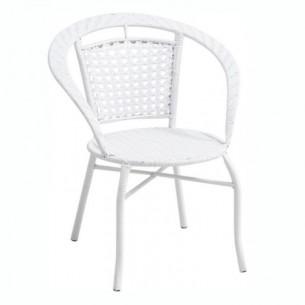 Fotoliu de grădină, alb, JENAR