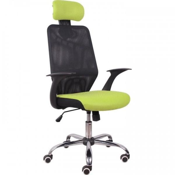 Scaun birou, verde/negru, REYES