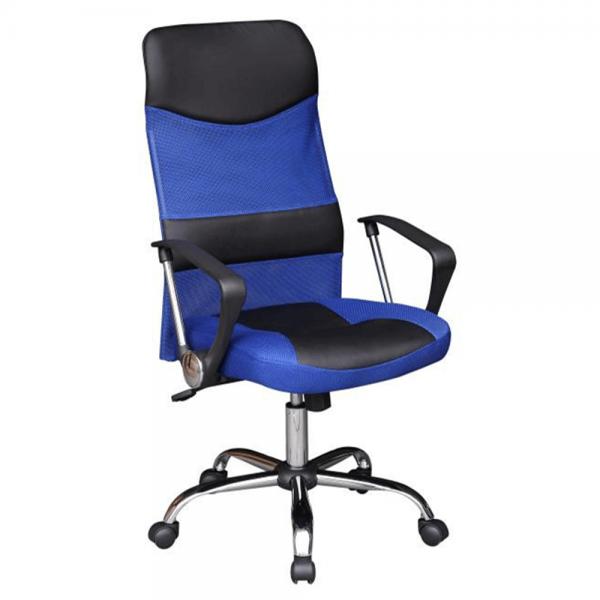 Scaun birou, albastru/negru, TC3-973M