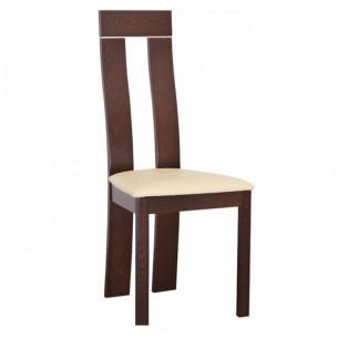 Scaun din lemn, nuc/piele...