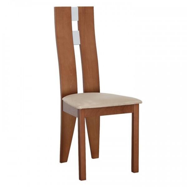 Scaun lemn, cires/material bej, BONA