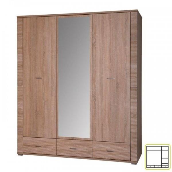 Dulap cu oglinda tip 2, stejar...